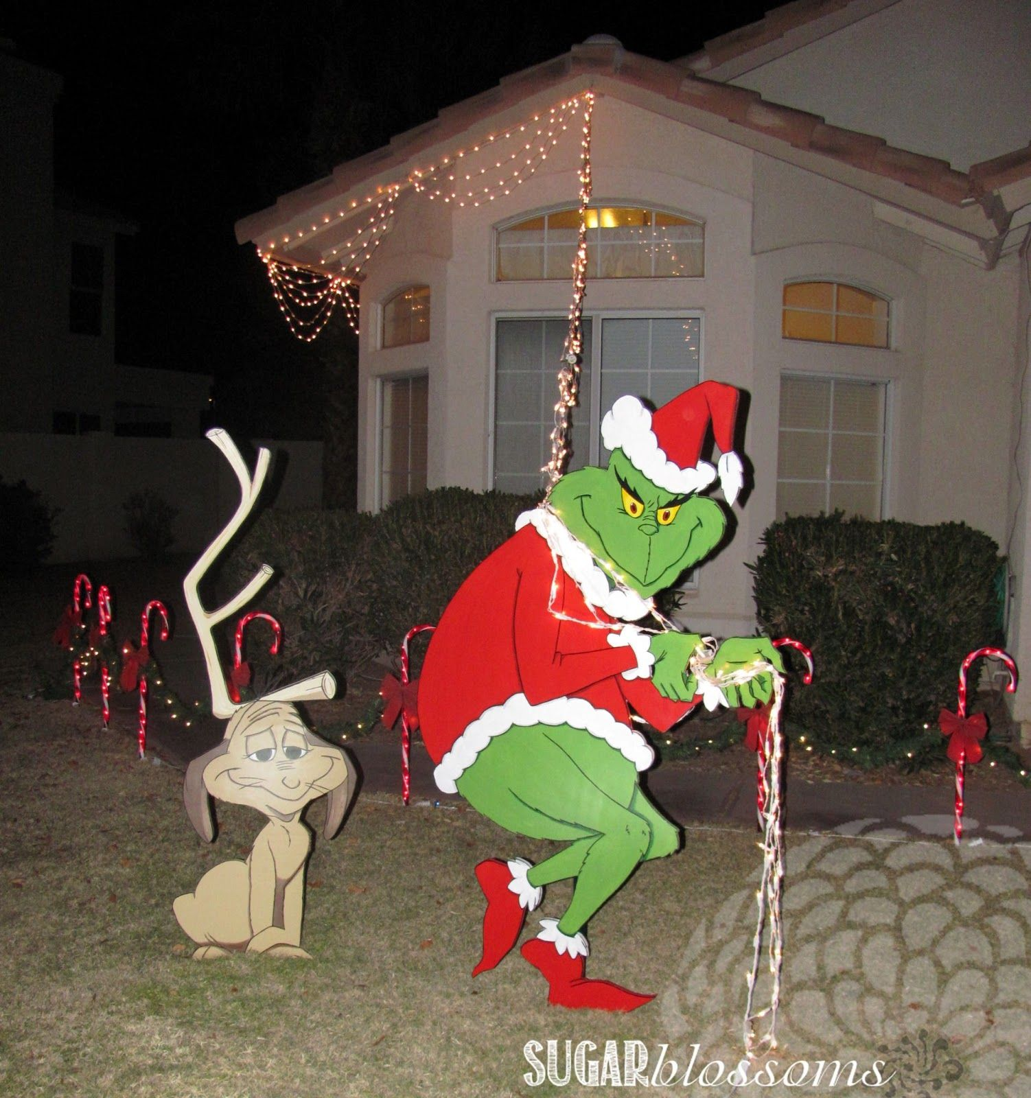 Find out more about grinch stealing lights decoration for for Large outdoor christmas decorations for sale