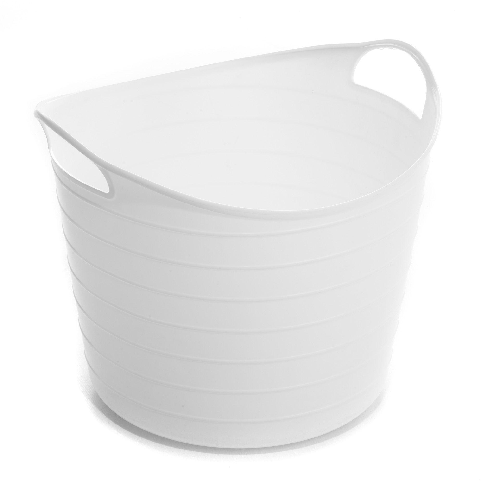 panier souple 40l blanc flex les boites en plastique bo tes de rangement tout pour le. Black Bedroom Furniture Sets. Home Design Ideas