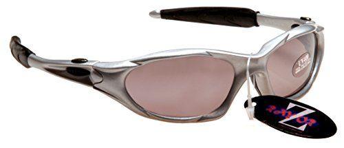 Rayzor Professional Lightweight UV400 Silver Sports Wrap Fishing Sunglasses, ...