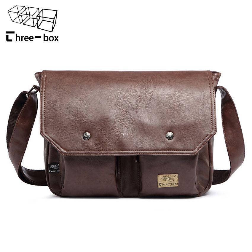 9103b36c05 Leather · 2016 Mens Messenger Shoulder Bag PU Leather Men s Briefcase  Designer ...