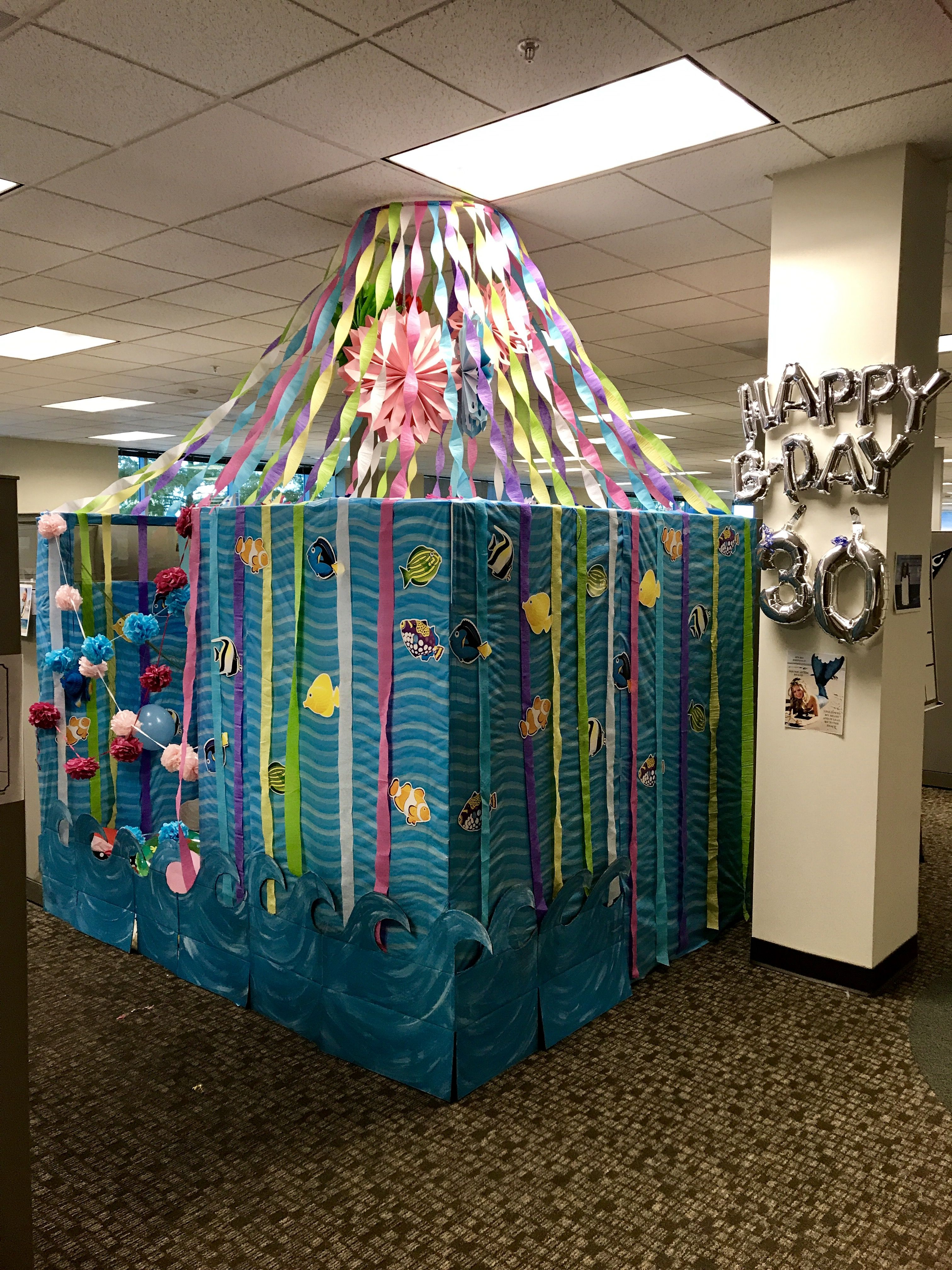 Birthday Cubicle Decorations Under The Sea Ocean Lover Theme