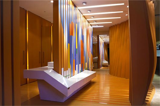 Public Toilets Exterior Design By Maria Beatriz Blanco Loving The Stripes Restroom Design Toilet Design Public Bathrooms