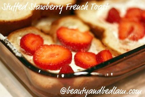 Stuffed French Toast Casserole with Fruit.  Easy way to feed a crowd at brunch.