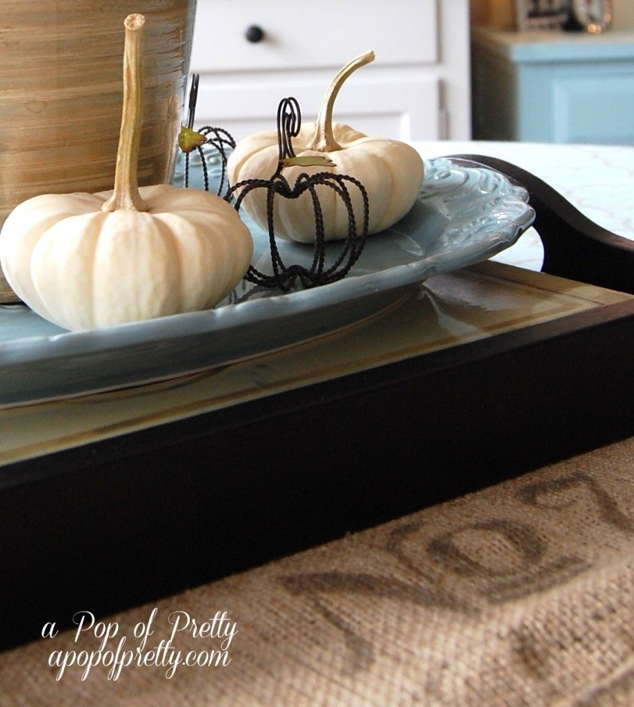 Fall Decorating Ideas: Decorating with Neutrals - A Pop of ...