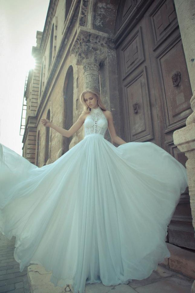 pale teal gown