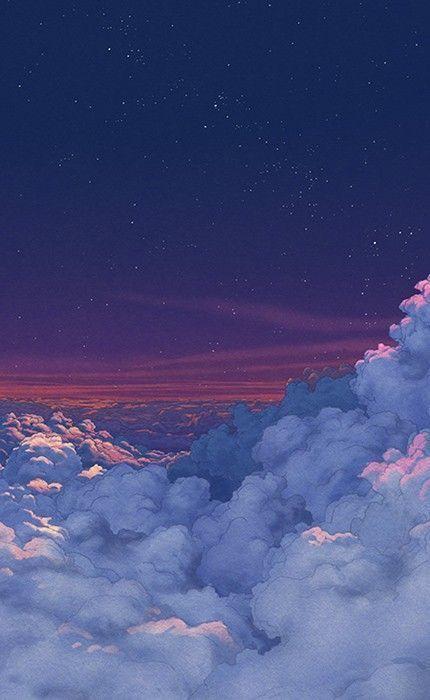 𝐟𝐚𝐭𝐢𝐢𝐨𝐧𝐚𝐚𝐚 In 2020 Scenery Wallpaper Cloud Wallpaper Night Sky Wallpaper
