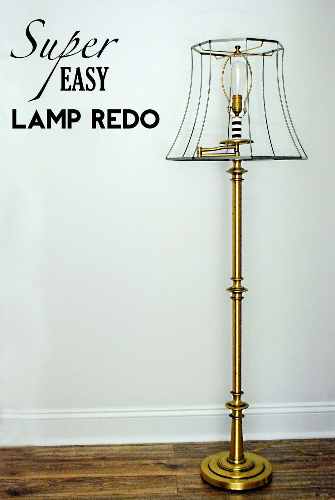 Life As A Thrifter Super Easy Lamp Redo Lamp Redo Lamp