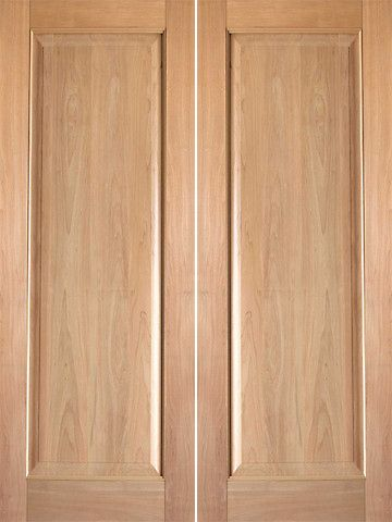Prehung Slab Tropical Hardwood Wood 1 Panel Rustic 6 Interior Double Door 80 96 Image Number 29 Of Split Doors