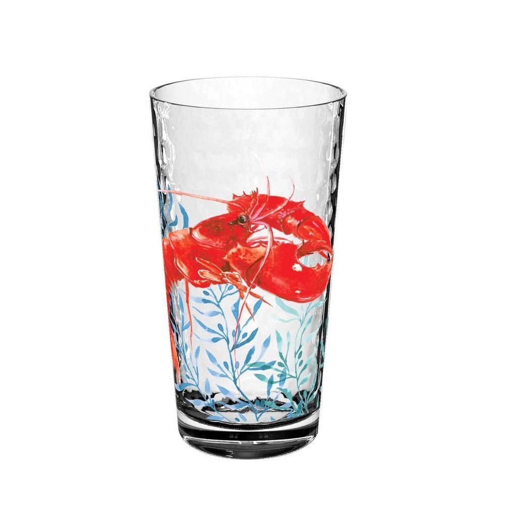 Sea Life Set Of 6 Plastic Acrylic Lobster Tumblers 22 2 Oz By Tarhong Tarhong Acrylic Drinkware Plastic Tumblers Old Fashioned Glass