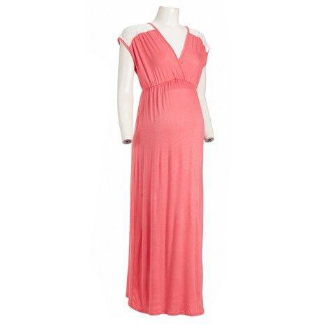 Maternity Lace-back Maxi Dress   Maxi dress, Maternity ...
