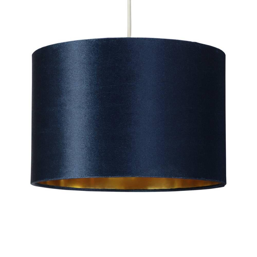 Buy Argos Home Velvet Drum Shade Teal Lamp shades