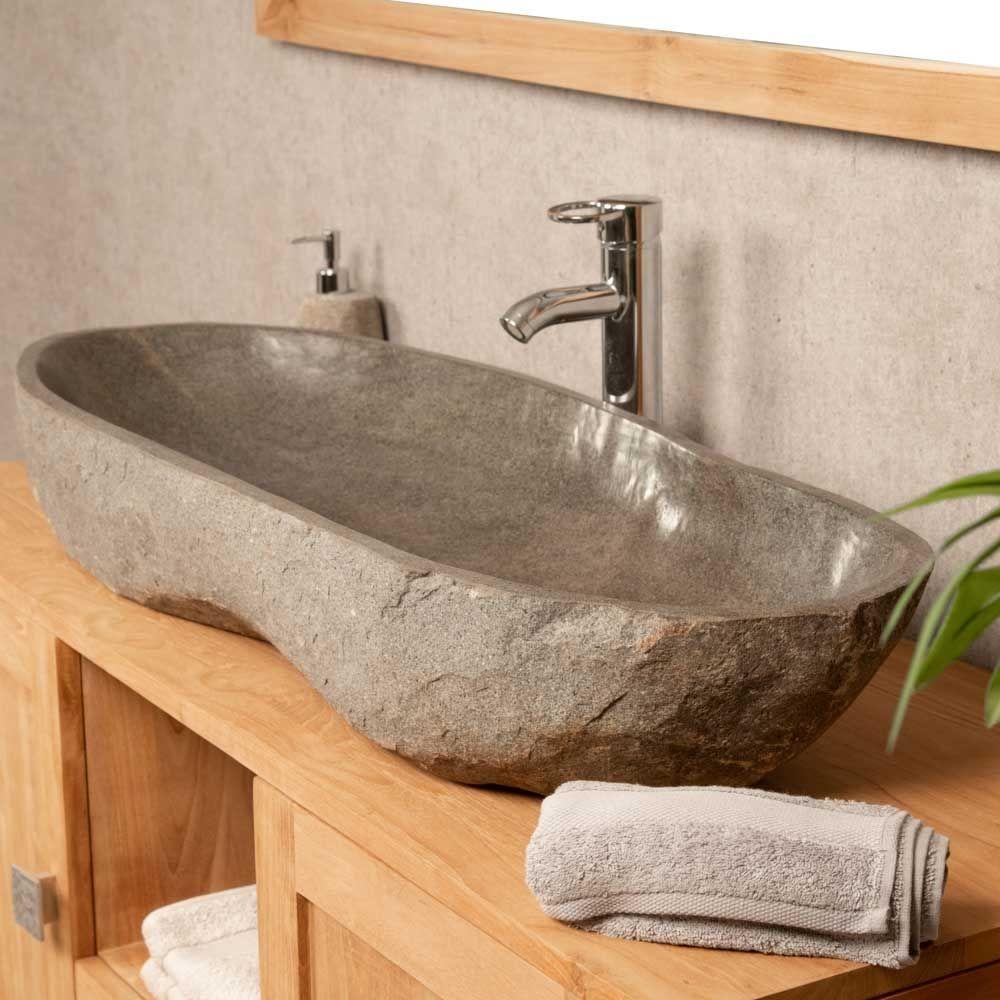 Grande Vasque en pierre de rivière 20  Vasque pierre, Vasque