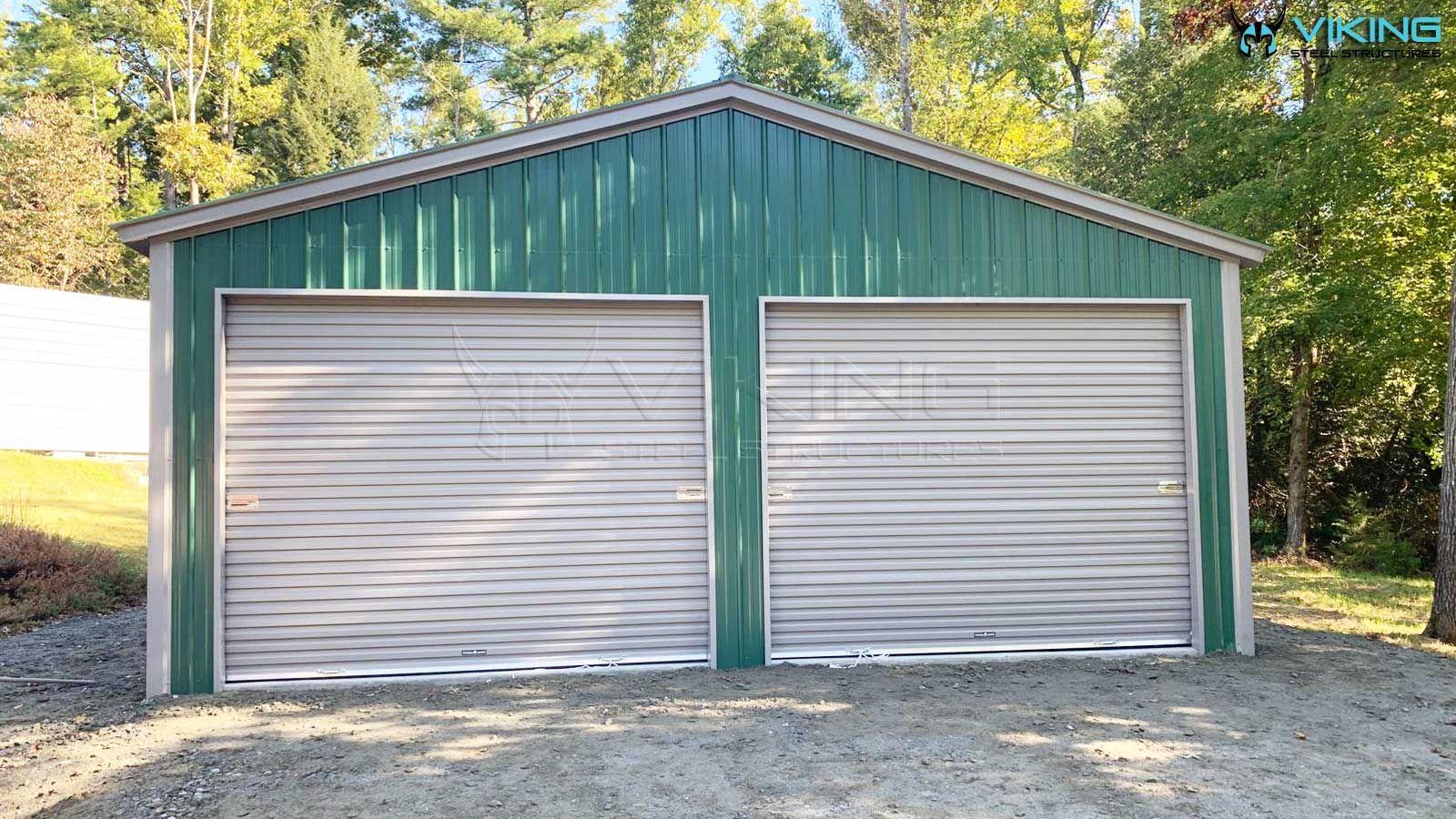 24'Wx40'Lx9'H All Vertical Metal Garage Metal garages