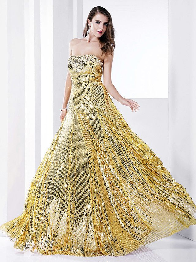 Sheath / Column Celebrity Style Elegant Sparkle & Shine ...