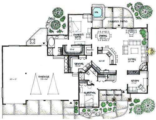 Ranch Modern House 5 Bed 3 5 Bath House Plans Solar House Plans Contemporary House Plans