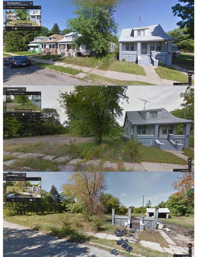 Tracking Detroit S Decay Through Google Street View Abandoned