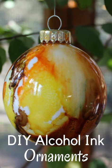 DIY Ornament Ideas -Christmas Ornaments with Alcohol Inks - FiberArtsy