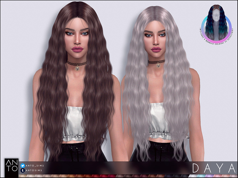 Mermaid Collection Found In Tsr Category Sims 4 Female Hairstyles In 2020 Sims 4 Sims Womens Hairstyles