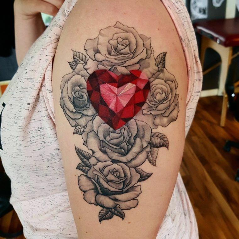 Fiori Con A.Idea Per Tatuaggi Rose Braccio Tanti Fiori Con Al Centro Un