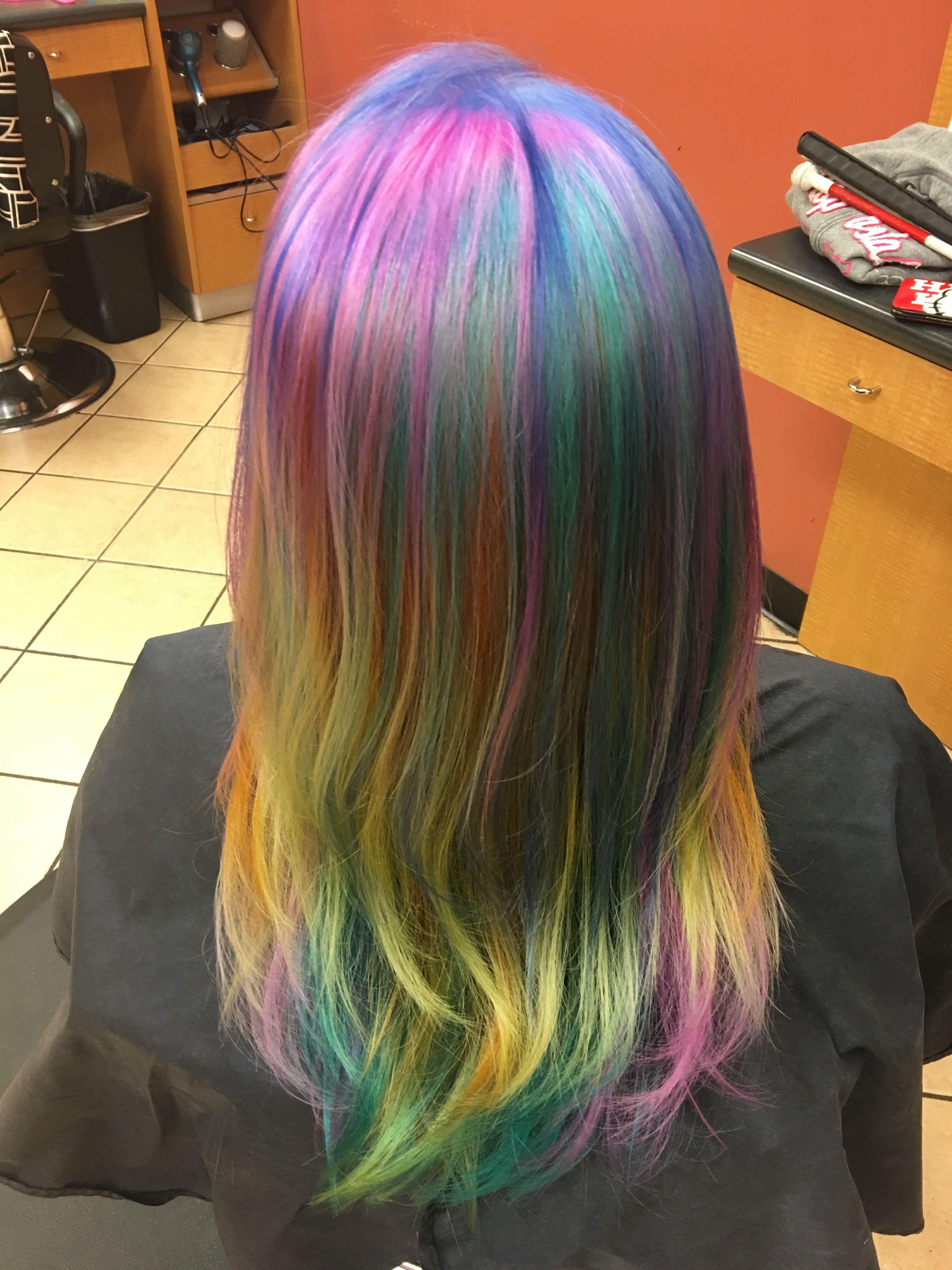Rainbow hair and color melting tigi colour trip in blue violet rainbow hair and color melting tigi colour trip in blue violet green nvjuhfo Choice Image