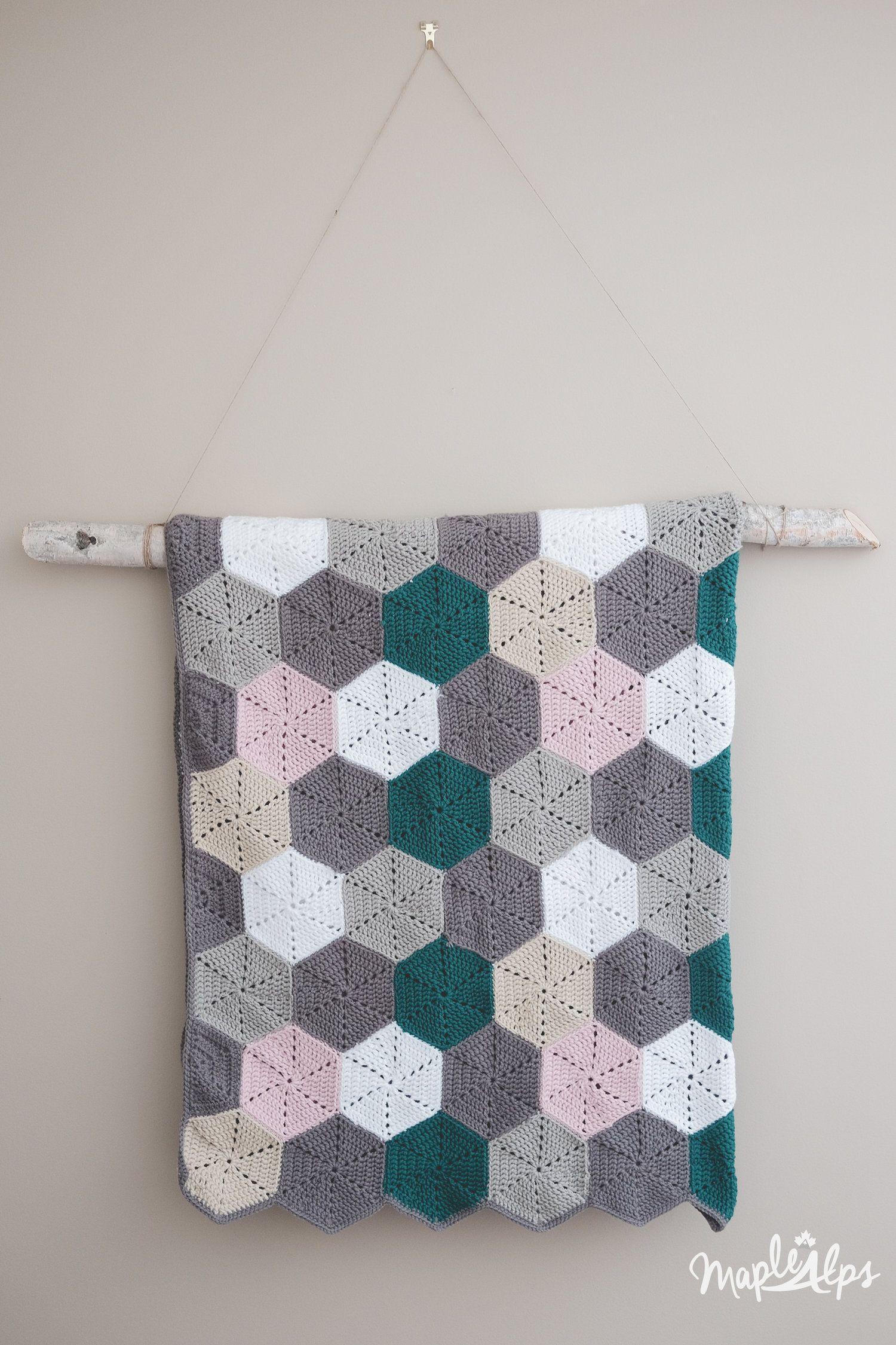 Modern Hexagon Afghan | Hexagon crochet, Afghans and Crochet
