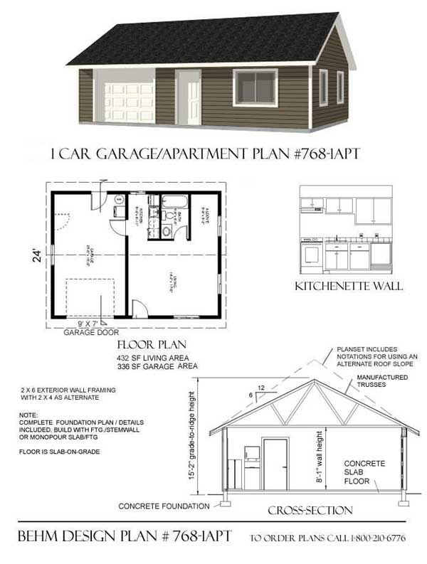 Another Practical Garage Apt 768 1apt 32 X 24 Shop House Plans House Plans Apartment Plans