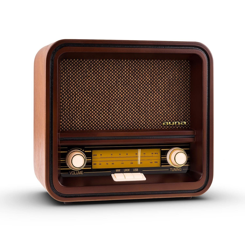 Auna Belle Epoque 1901 Poste Radio R Tro Style Vintage Ann Es 30  # Port Television En Bois