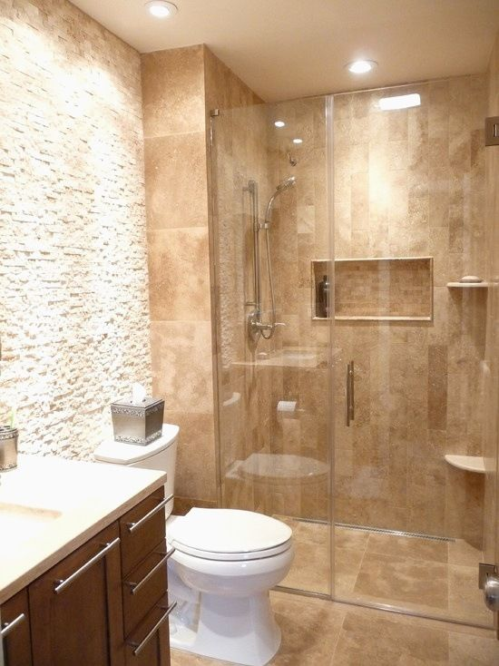 Travertine Small Bathroom Fresh Homey Bathroom Travertine Tile
