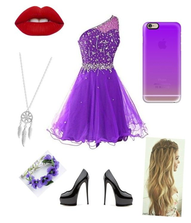"""""""cousins prom dress"""" by nicolekt on Polyvore featuring Lime Crime, Lucky Brand and Casetify"""