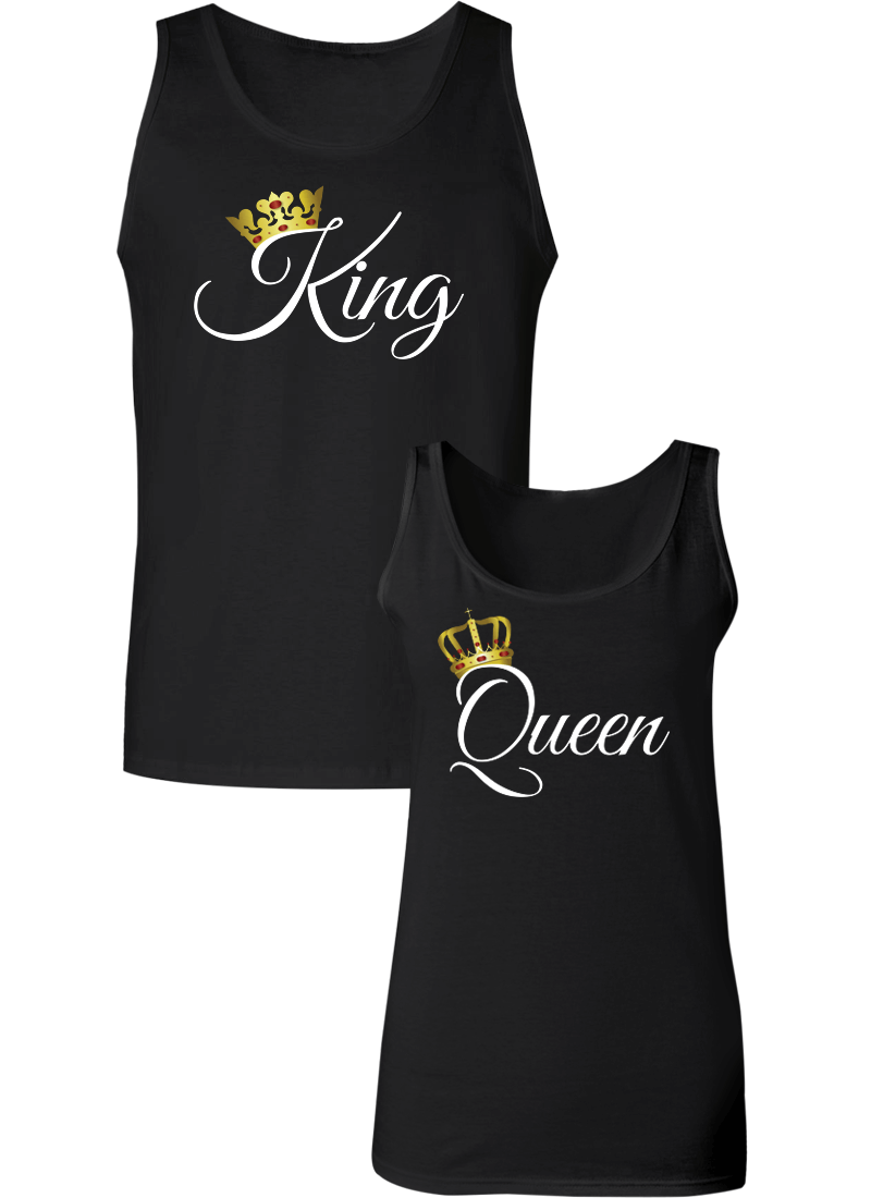 e79eb7a2c5c9af King and Queen Tank Top   Couples Apparel   Couples Shirts   Wedding    Couples Apparel has the best matching apparel for you and your significant  other!