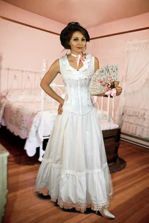 Casual Old West Wedding Dress