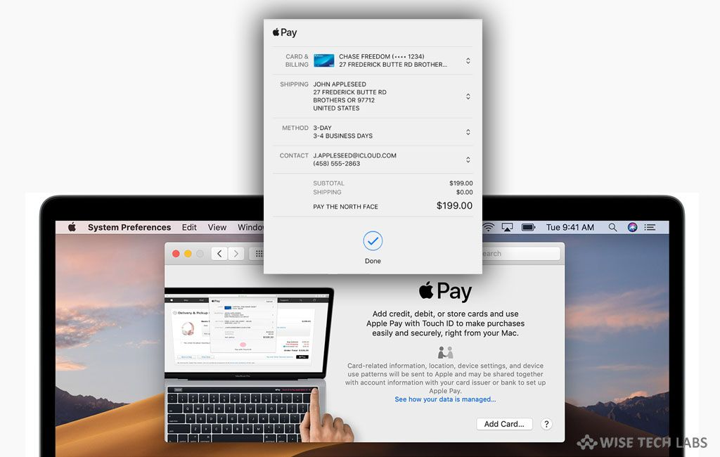 How To Pay With Apple Pay In Safari On Your Mac Wise Tech Labs Apple Pay Apple Mac