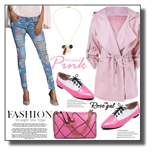 """""""Pink Coat  13"""" by ramiza-rotic ❤ liked on Polyvore featuring nice and rosegal"""