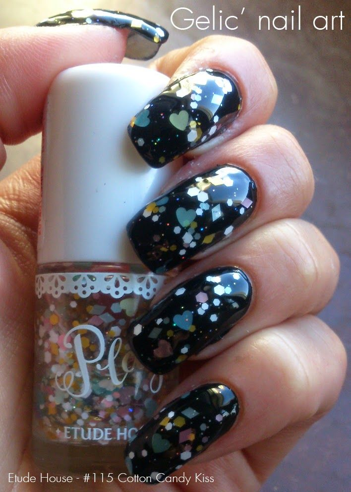 Gelic\' nail art: Etude House - #115 Cotton Candy Kiss, swatch and ...