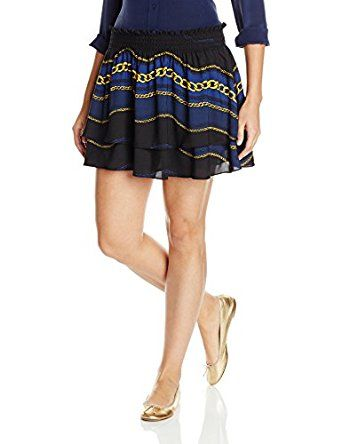 uicy Couture Black Label Women's Royal Windsor Mini Skirt Pitch Black Royal