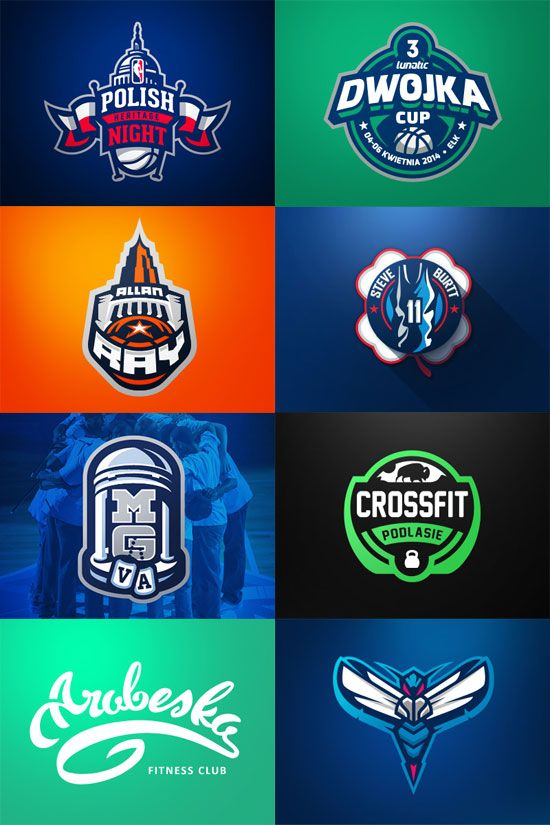 Awesome Sports Logo Designs by Kamil Doliwa | Sports logos, Logos ...