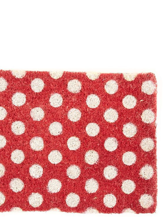 Red spotted doormat - Door mats - Cushions throws & rugs - Home & furniture -