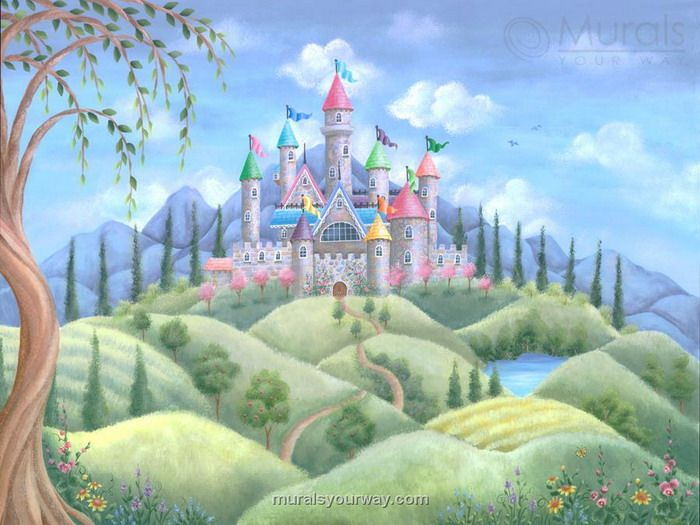 High Quality Castle Dreams Wall Mural
