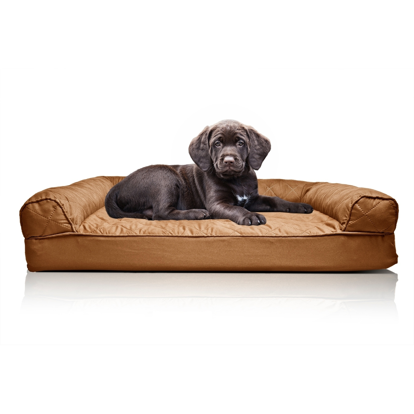 Furhaven Pet Bed Quilted Orthopedic Sofa Dog Bed Dog Pet Beds