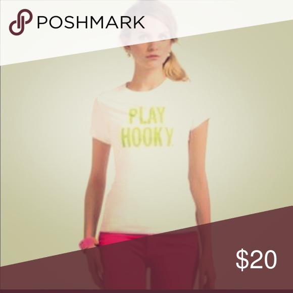 "Kate Spade ""play hooky"" tshirt Size Large tshirt.. super cute! Never worn! kate spade Tops Tees - Short Sleeve"