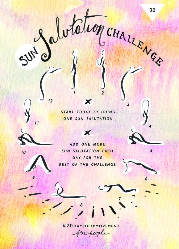 20 Days Of Movement, Day 20: Sun Salutation | Free People Blog #freepeople