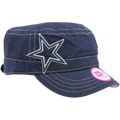 7c41c2d5789bf9 New Era Dallas Cowboys Ladies Chic Cadet Military Hat - Navy Blue ...