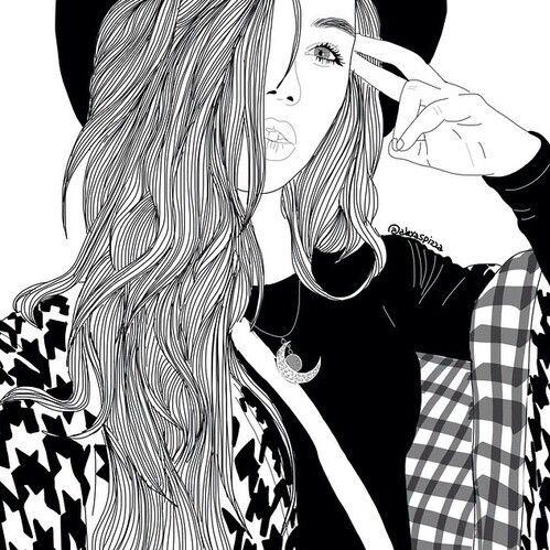 Populaire noir, noiretblanc, dessiné, dessin, gris, adolescent, Tumblr  LO67
