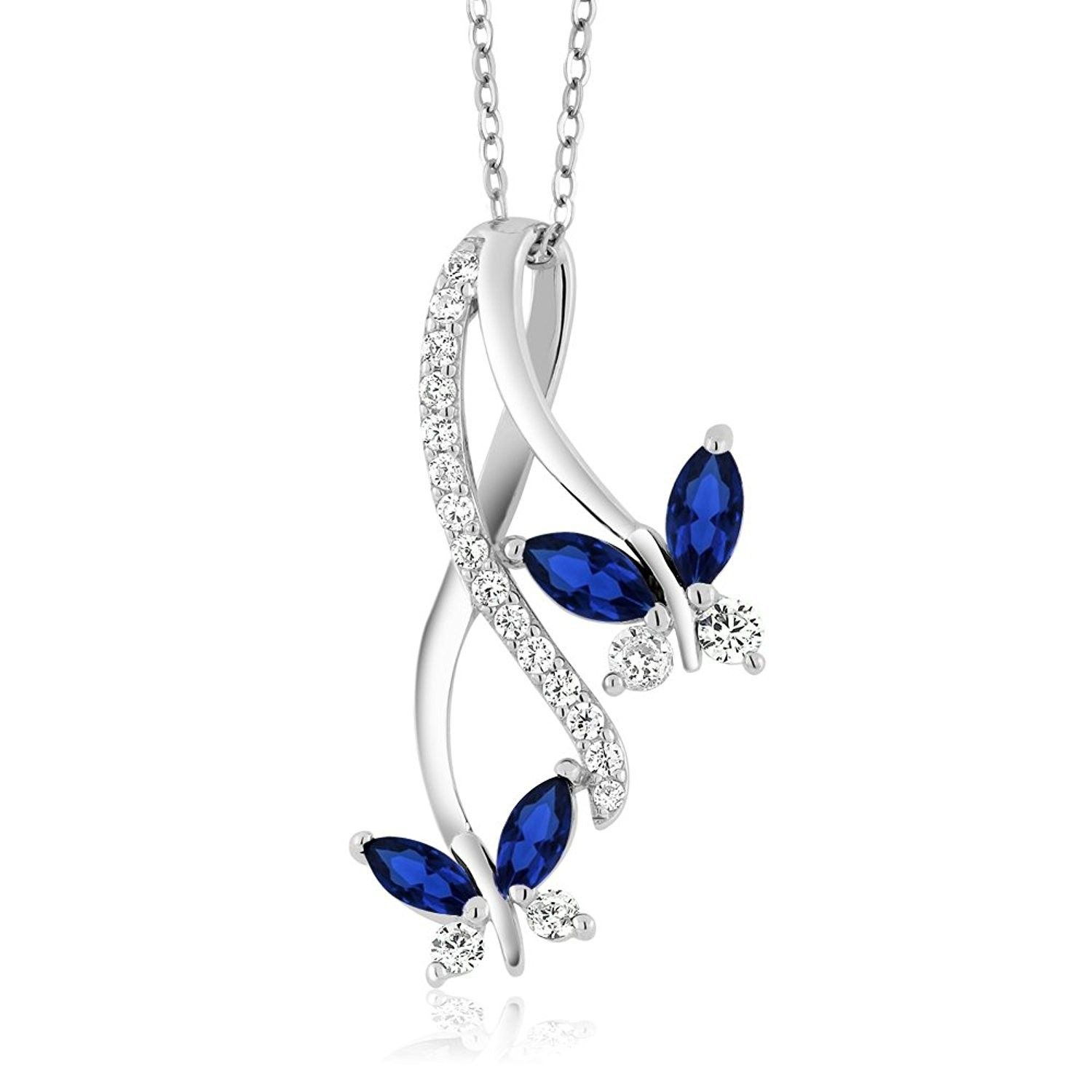 Marquise sapphire sterling butterfly infinity cpovd