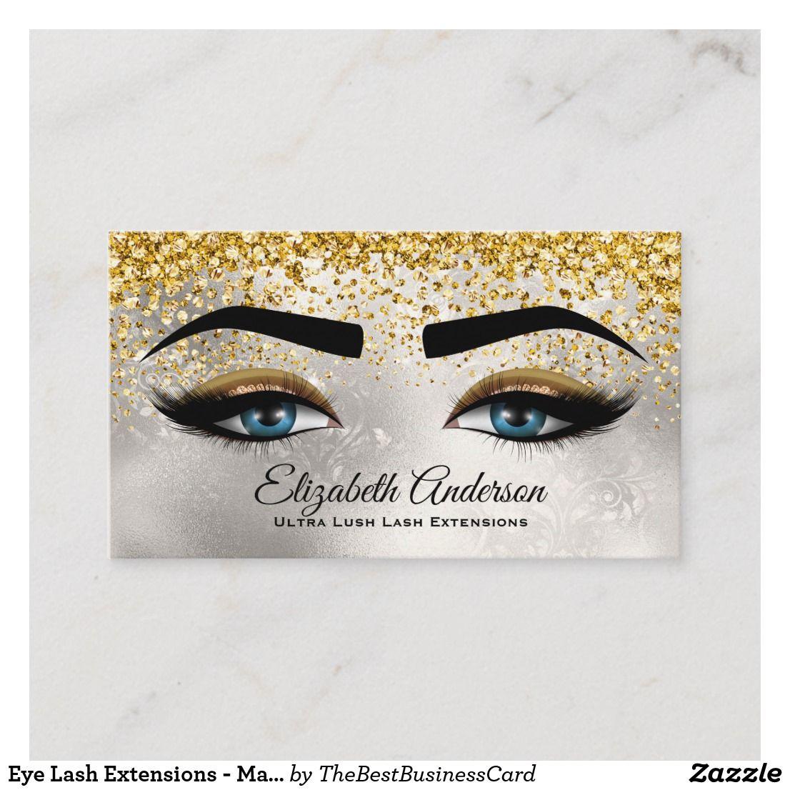 Eye lash extensions makeup artist ultra glam business