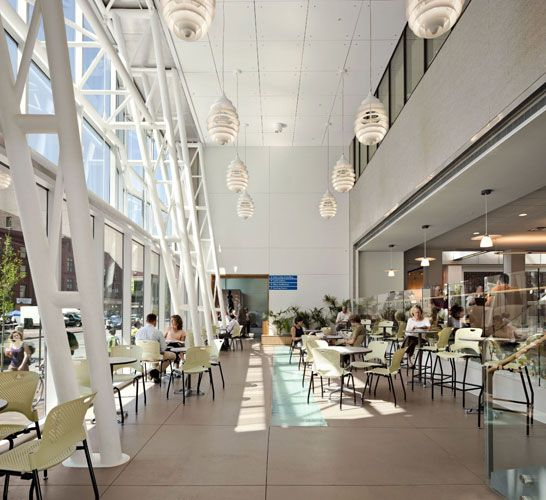 Portland Public Library Scott Simons Architects Portland Maine Library Architecture Library Cafe Beautiful Library