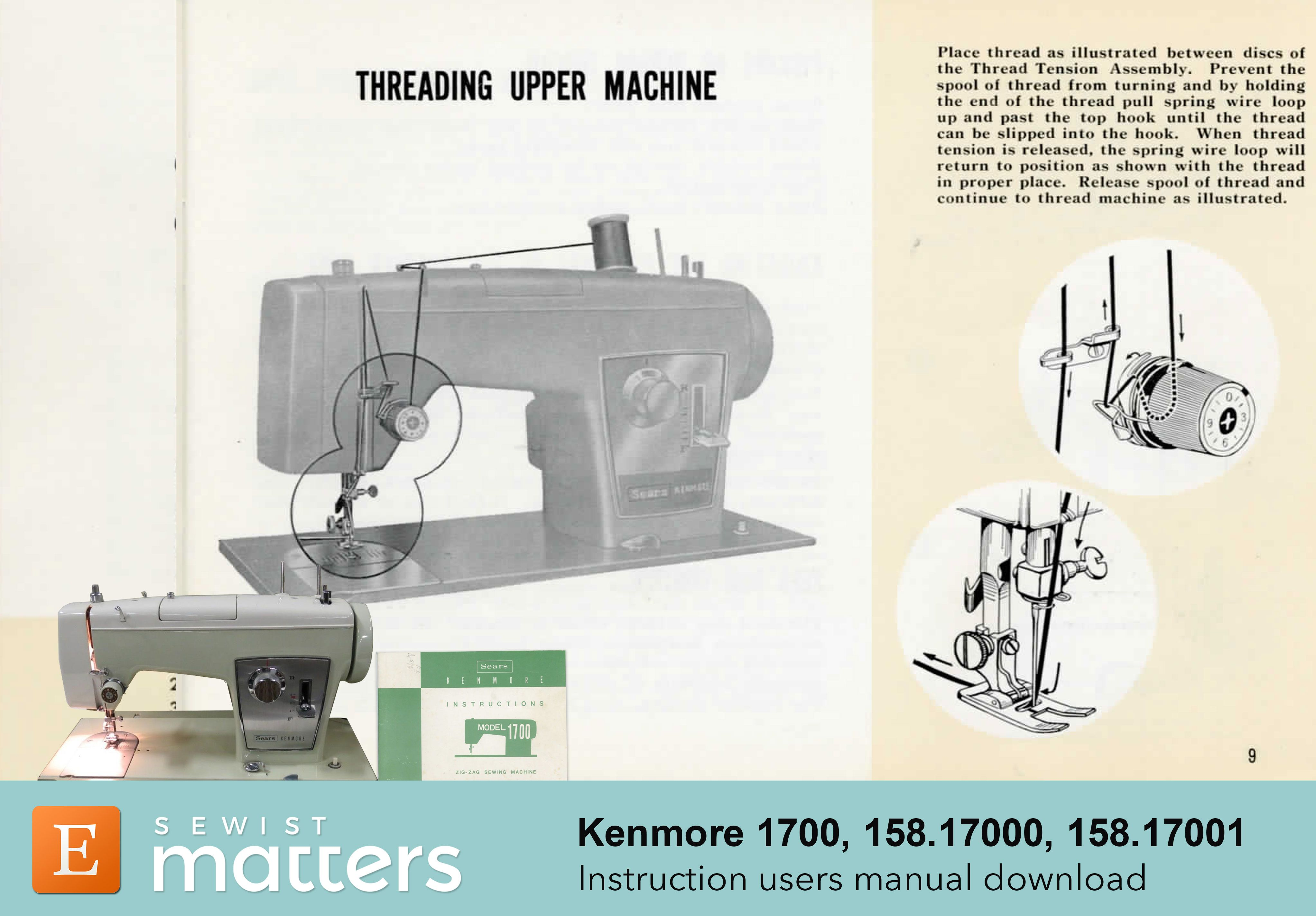 Kenmore 1700 158 17000 158 001 Zig Zag Sewing Machine Etsy Sewing Machine Instruction Manuals Sewing Machine Instructions Sears Sewing Machine
