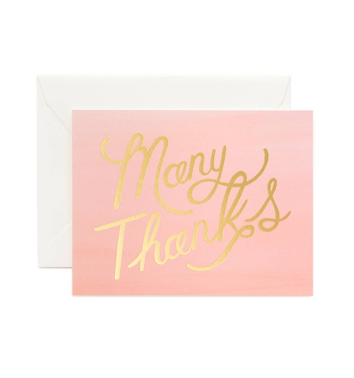 Ombr Many Thanks Greeting Card