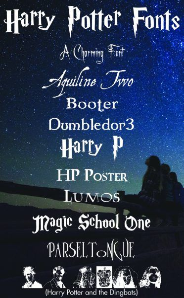 Harry Potter Fonts Every Harry Potter Fan is Sure to Love