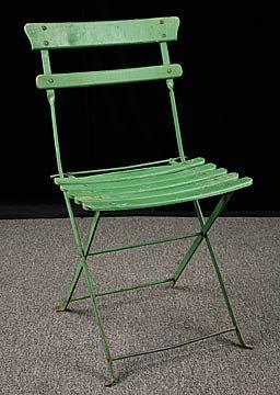 Vintage French Garden Folding Chair Rustic Garden Interior Design
